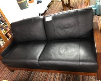 Black Sofa with Two Cushions