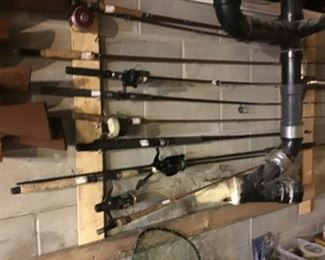More fishing poles