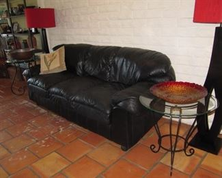 Leather sofa, available now!