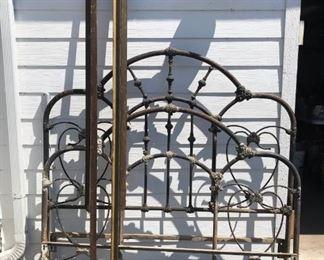 Antique Cast Iron Bed Frame