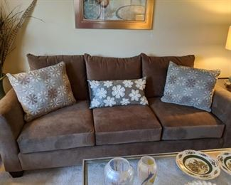 "HIGH-QUALITY, ABSOLUTELY LIKE BRAND ""NEW"" SOFA AND OVER-SIZED CHAIR AVAILABLE!  FURNITURE BY ROWE!  ACCENT PILLOWS AVAILABLE!  Being sold individually, so if you are looking for a set, don't wait!  More Beautiful in person!"