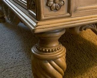 Ashley Furniture Traditional Wood Marble Coffee Table21x32x54inHxWxD