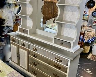 SOLID WOODEN 2-Piece Dresser recently refurbished to create a one-of-a-kind, great piece of furniture