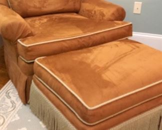Chair & Ottoman Custom Designed by Fabric Place  $265 39 x 31.5 x 32 Ottoman:  14.5 x 21.5 x 30.5