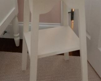 White Flower Shaped Side Table  $30 16 x 27.5