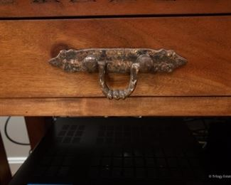 Rustic Southeast Asian-Style Carved Console Table   $185 72 x 18.25 x 31.25   Good condition.