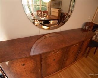 Lexington Furniture Lacquered Sideboard with Inlay   $475 82.5 x 21 x 33.5  Excellent Condition