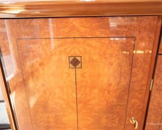 Lexington Furniture Lacquered Sideboard with Inlay   $475 82.5 x 21 x 33.5. Excellent Condition