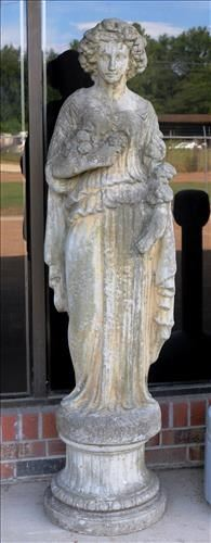 006a Life size concrete statue of spring, 60.5 in. T