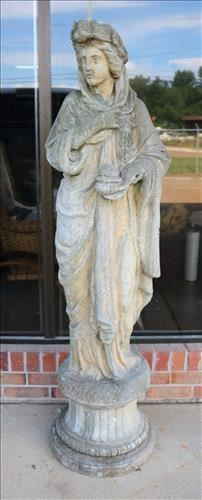 008a Life size concrete statue of summer, 57.5 in. T.