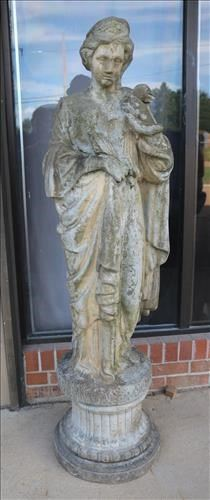009a Life size concrete statue of winter, 56.5 in. T.