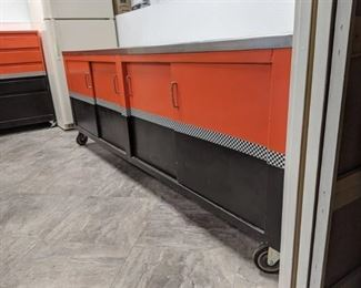 Stainless Steel Bench On Casters