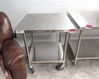 Regency 600TS3030S Stainless Steel Prep Table