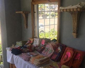 Furniture, napkins, mirrors