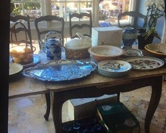 China, platters, steins, coffee mugs, port de meriman and other nice brands