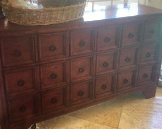 Pottery Barn red Cabinet