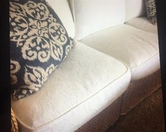 Pottery thick braded wicker with beautiful white embellished cushions