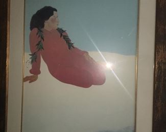 10 + beautiful large framed paintings. Some to include framed painting by Pegge Hopper (as pictured)