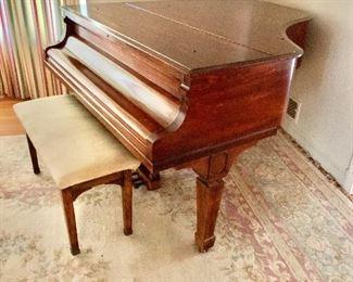 $1,500 Knabe Grand Piano; Serial # unknown;  Mahogany finish, circa 1930'3