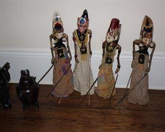 Set of four Javanese Mayan Golek puppets