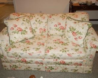 "Floral Love Seat, Howard Miller, Woodmark Original, 58"" W  x 34"" D x 34"" H"