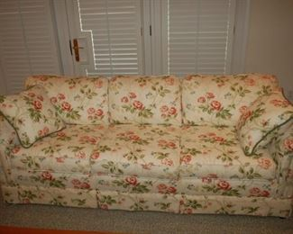 "Floral Sofa, 92"" W x 30"" D 31"" H, Howard Miller, Woodmark Original"