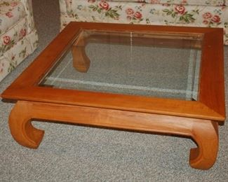 "Square coffee table, 39"" W  X 39"" D x 13""  H"
