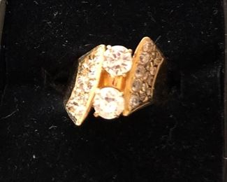 #225. $850.00. Diamond ring on 14k. European cut.   Overall appx .50ct