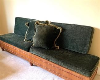 bench with additional pillows