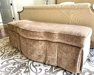 5 ft wide upholstered storage bench by Cabot House