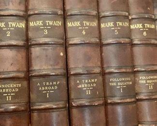 Mark Twain leather bound set