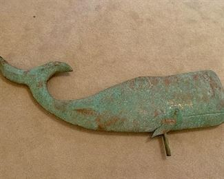 """30"""" whale weather vane (NSEW & rod are missing)"""