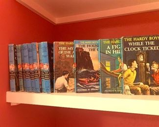 vintage set of Hardy Boys mysteries
