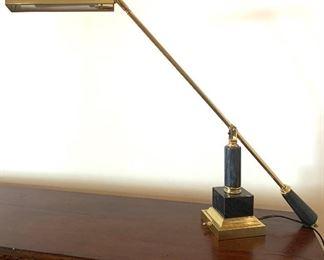 brass & marble lamp