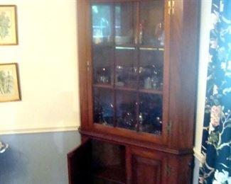 Cherry corner cupboard