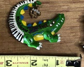 https://www.ebay.com/itm/124277140153WL7073: 2007 Michael Hunt New Orleans Jazz Festival JazzFest Gator PinAuction