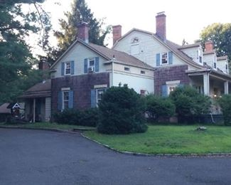 Safe South Side Approach to Historic Bergen County Dutch Colonial Home.