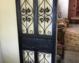 Decorative piece.  Can be a headboard or add screen for a small screen door.