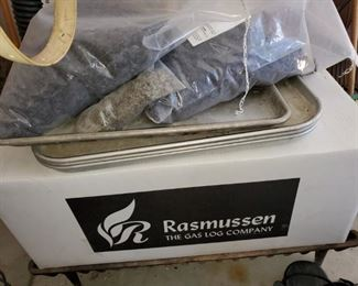 Rasmussen gas fireplace logs  and gas fireplace kit