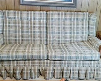 Plaid couch $100