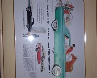 Ford Thunderbird serving tray.