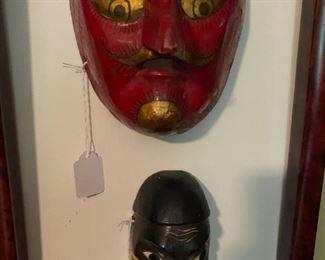 Fun vintage wooden masks
