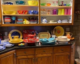 An array of colorful dishes