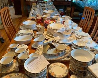 Several of the china sets we have to offer