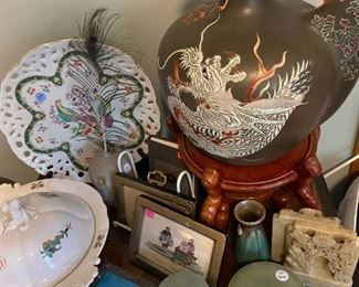A selection of the many Asian items offered