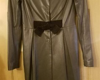 Valentino leather dress, small size 4