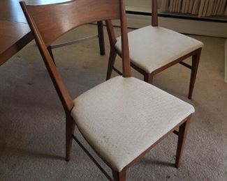 MCM Paul McCobb for Calvin Furniture dining table w/ 4 chair, 2 leaves and pads