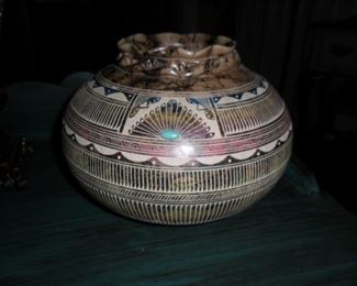 Navajo Horse Hair Pottery by Susie Charlie