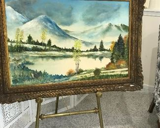 Wonderful Original Oil Painting.  Local Artist.  Easel sold separtely.