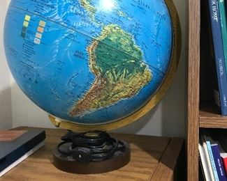 Around the world globe.  Lights up..wouldn't you kow they would have globes and maps!